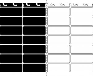 Pilulier sécable noir & blanc Silverpill